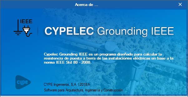"CYPELEC Grounding IEEE. Cálculo de sistemas de puesta a tierra según IEEE std 80 2000 ""IEEE Guide for Safety in AC Substation Grounding"""